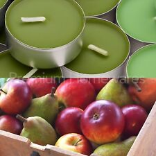 60 x IKEA SINNLIG Apple & PERA (Verde) Candele profumate Tealight