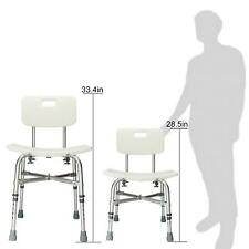 Adjustable Heavy-duty Medical Shower Chair Bath Bench Stool Seat & Backrest