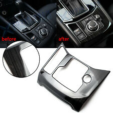 Black Titanium Interior Gear Shift Media Frame Cover Trim For Mazda CX-5 17-2020