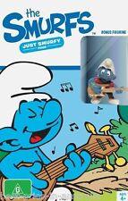 The SMURFS - Just Smurfy: Set 4 DVD+ SMURF GUITAR PLAYER FIGURINE BRAND NEW R4