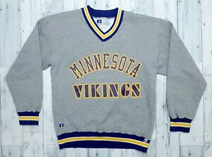 Vintage 90s Russell Athletic Minnesota Vikings Sweatshirt Sz Large RARE MINT!!!