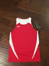 Under Armour Men's Heatgear Red Running Athletic Singlet  Shirt SzS NEW 1201194