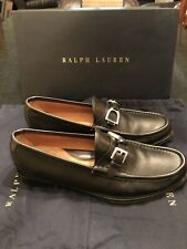 857c2dd429b Mens Ralph Lauren Bleeker Black Calf Loafers! Size 9.5D