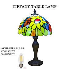 Tiffany butterfly Style 10 inch Hand Crafted Glass Table /Desk / Bedside Lamps