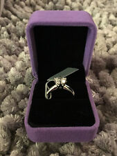 1 Ct Round Cut Solitaire Engagement Wedding Ring 14K White Gold finish 6.5