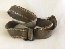 Men's Canvas Belt Adjustable Fits Waists 34-38 Army Green Metal Buckle