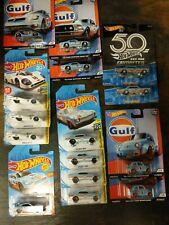 Huge 15X Hot Wheels Gulf Lot, Nova/Mustang/Fiat/917/GT/MK7, Advertising Diecast