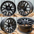 18x8 / 18x9 Black Wheels Fit Mercedes S430 S500 S550 E320 E500 CLK 18 Rims Set