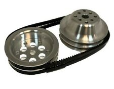 Sbc Chevy 350 Short Water Pump And Crank Aluminum Pulley Kit 11 Double Groove