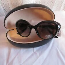 Sunglasses Women 400 UV Protection with Hard Case Black