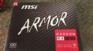 MSI AMD RX 580 8GB ARMOR EDITION BOX
