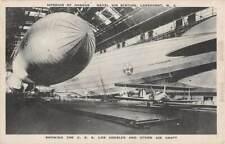 Lakehurst, Nj, Uss Los Angeles & Other Aircraft At Naval Air Station c 1920's