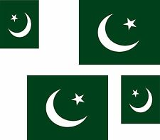Set of 4x sticker vinyl car bumper decal outdoor car moto world flag pakistan