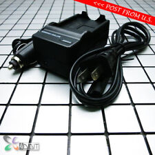 AC Wall Car Battery Charger for Canon BP-2L12 2L21 HV40 MD100 MD101 MD110 MD111