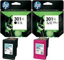 2 XL original HP 301 cartuchos Deskjet 1000 1050a 2050a 2540 3050a 1010 1510 1512