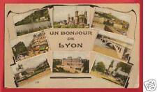 CPA Cellard 1939 postcard multivue un Bonjour de LYON 69 Rhône A