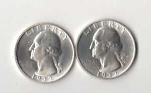 2 Magic Trick Coins 1932 Two Face Washington Quarters 2 heads &  2 Tails Coin