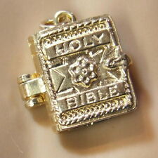 9ct gold new bible charm