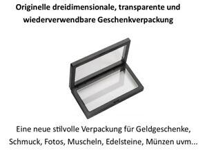 1x 3D Schweberahmen WEISS, eine exklusive stilvolle Geschenkverpackung Rahmen