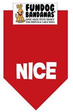 Nice - Fun Dog Bandana Small Red - 100% SALE BENEFITS RESCUE
