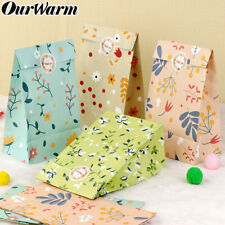 12xFlowers Paper Gift Bags Candy Bag Party Favour Bags Wedding Birthday Supplies