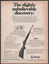1971 SAVAGE 110 Bolt Action Rifle Vintage AD Old Gun Advertising