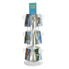 12 Pocket Tabletop Greeting Card Spinner Display in White 9W x 9 D x 26 H Inches