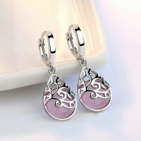 Gorgeous 925 Silver Drop Earrings for Women Moonstone Jewelry A Pair/set^^