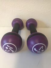2.5 LB Sand Hand Weights Yoga Fitness Weight Training Purple & Black