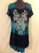 New Vocal Vintage Women's Tunic (tie-dye with rhinestones on print)