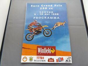 1998 MOTOCROSS PROGRAMME 10/5/98 - EURO 250cc GRAND PRIX - LEUVEN