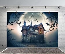 Halloween Horror House Moon Scene Prop Backdrop Studio 10x6.5ft Photo Background