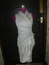 Amazing All Saints Alloy Dress Oyster Size 10 BNWT