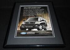 2005 Ford Expedition 11x14 Framed ORIGINAL Vintage Advertisement