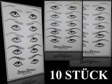 Microblading Permanent Make up Tattoo Übungshaut Augen / Brauen - 10 Stück