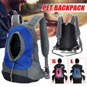 Puppy Travel Mesh Pet Dog Carrier Backpack Front Travel Portable Shoulder Bag AU