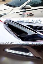 2x Universal White Color LED Car Fender Side Indicators Turn Signal Panels light