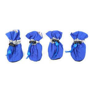 4Pcs/set Waterproof Anti Slip Dog Boots Shoes Puppy Rain Pet Small Cat Pet Socks