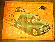 """Dépliant 4CV """"RENAULT"""" 1950? Grand modèle"""
