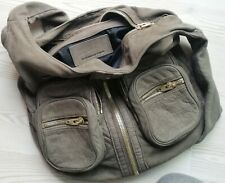 Rare ALEXANDER WANG DONNA Shoulder Bag Knot Strap Pockets Brown Leather Medium