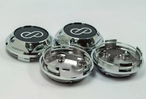 4pcs 68mm Enkei Chrome Carbon Wheel Center Caps Rim Caps Hub Caps Emblems