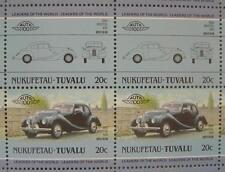 1950 BRISTOL 400 Sports Sedan Car 50-Stamp Sheet / Auto 100 Leaders of the World