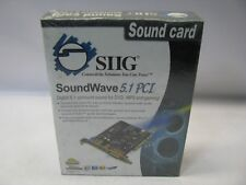 SIIG SoundWave 5.1 Channel PCI Sound Card *New Sealed*