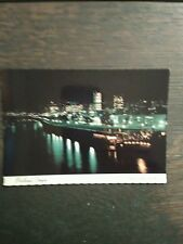 NIGHT TIME VIEW FROM PORTLAND OREGON PHOTO POST CARD PORTLAND OR,