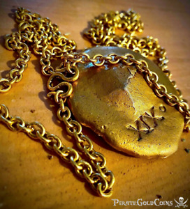 "GOLD MONEY CHAIN 37"" 1622 ATOCHA FLEET SANTA MARGARITA PIRATE GOLD COINS JEWELRY"