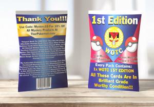 1st Edition WOTC Pokémon Card | Sealed Pack | 1st Edition Holos/Rares Seeded