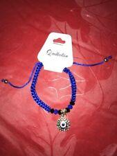 Evil Eye GOOD LUCK Bracelet Royal Blue Adjustable size fits most Brand New WOW!