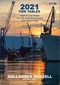 TIDE TABLES 2021 Port of Falmouth UK & Other Ports. A6 Pocket Size Booklet