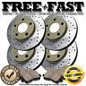J0498 FIT 2002 2003 2004 Honda CRV CR-V Drill Brake Rotors Ceramic Pads F+R GOLD