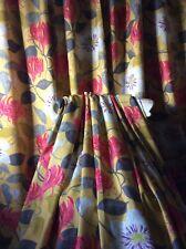 VillaNova Lonicera  Mustard Curtains Thermal Blackout lined Wide & Long